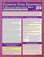 Common Core Standards and English Language Arts Grades 6  12  Strategies for Student Success PDF