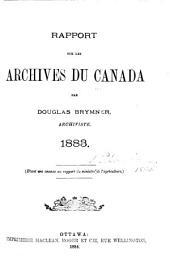 Rapport sur les archives du Canada