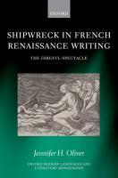 Shipwreck in French Renaissance Writing PDF