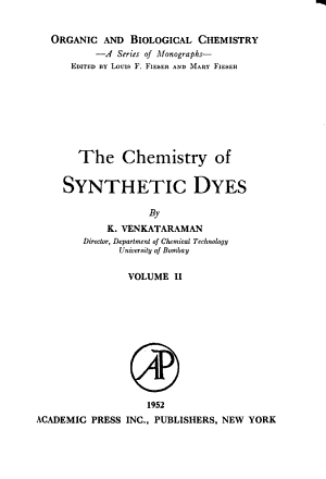 The Chemistry of Synthetic Dyes