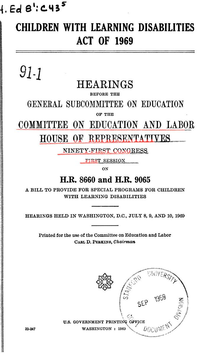 Children with Learning Disabilities Act of 1969