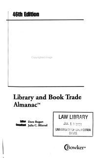 Bowker Annual Library and Book Trade Almanac PDF