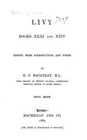 Livy, books XXIII and XXIV