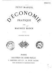 Petit manuel d'économie pratique
