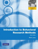 Introduction to Behavioral Research Methods Book