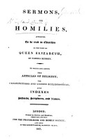 Sermons or Homilies appointed to be read in Churches in the time of Queen Elizabeth     A new edition PDF