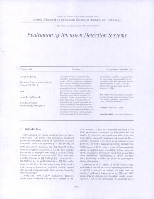 Evaluation of Intrusion Detection Systems