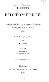 Lamberts Photometrie: (Photometria, sive De mensura et gradibus luminis, colorum et umbrae) (1760), Ausgabe 31