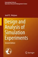 Design and Analysis of Simulation Experiments PDF