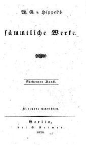 Sämmtliche Werke: Bände 7-8