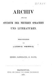 Archiv für das Studium der neueren Sprachen und Literaturen: Bände 61-63