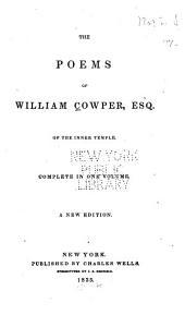 The Poems of William Cowper ...