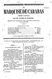 La Marquise de Carabas: comédie-Vaudeville