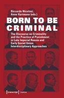 Born To Be Criminal Book PDF