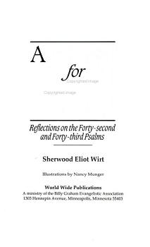 A thirst for God   reflections on the forty second and forty third Psalms PDF