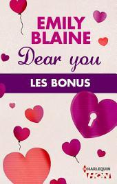 Dear You : les bonus de la série