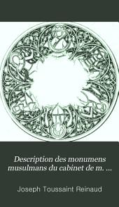 Description des monumens musulmans du cabinet de m. le duc de Blacas