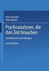 Psychoanalysen, die ihre Zeit brauchen: Zwölf klinische Darstellungen, Ausgabe 2