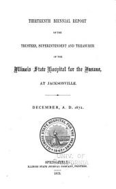 Biennial Report of the Jacksonville State Hospital: Volume 13