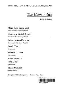 The Humanities  Cultural Roots and Continuities PDF
