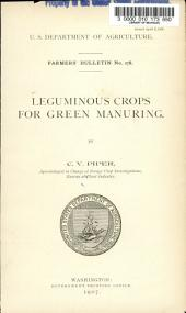 Leguminous Crops for Green Manuring