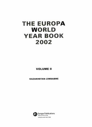 The Europa World Year Book 2002