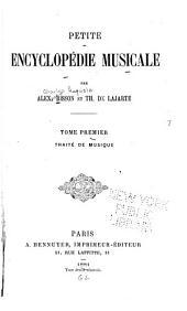 Petite encyclopédie musicale: Volume1