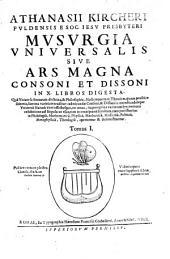 Musurgia Universalis Sive Ars Magna Consoni Et Dissoni: In X. Libros Digesta : Quà Vniuersa Sonorum doctrina, & Philosophia, Musicaeque tam Theoricae, quam practicae scientia, summa varietate traditur ...