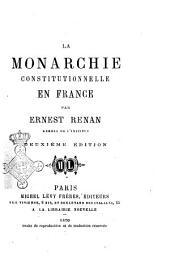 La monarchie constitutionnelle en France