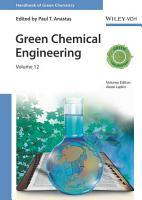Green Chemical Engineering PDF
