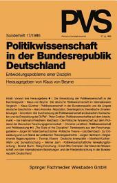Politikwissenschaft in der Bundesrepublik Deutschland: Entwicklungsprobleme einer Disziplin