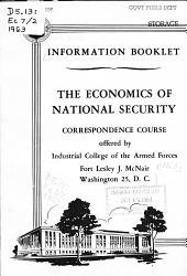 Economics of National Security Correspondence Course PDF