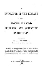 A Catalogue of the Library of the Institution PDF