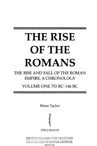 The Rise of the Romans Book