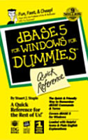 DBASE 5 for Windows for Dummies Quick Reference PDF