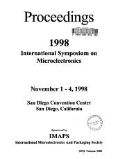 Proceedings 1998 International Symposium on Microelectronics