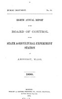 Annual report of the Board of Control of the State Agricultural Experiment Station at Amherst  Mass PDF