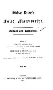Bishop Percy's Folio Manuscript: Ballads and Romances, Volume 2