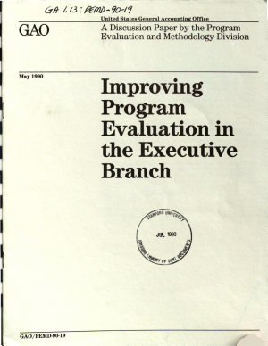 Improving Program Evaluation in the Executive Branch PDF