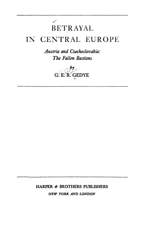 Betrayal in Central Europe