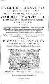 Euclides adauctus et methodicus