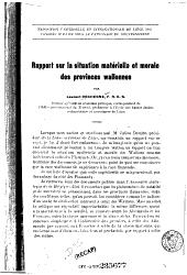 Rapport sur la situation matérielle et morale des provinces wallonnes ...