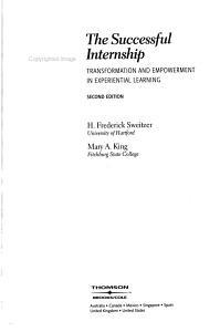 The Successful Internship Book