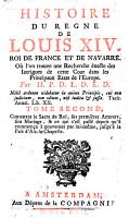 HISTOIRE DU REGNE LOUIS XIV  ROI DE FRANCE ET DE NAVARRE PDF