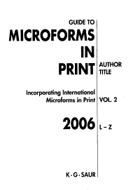 Guide to Microforms in Print 2006 PDF