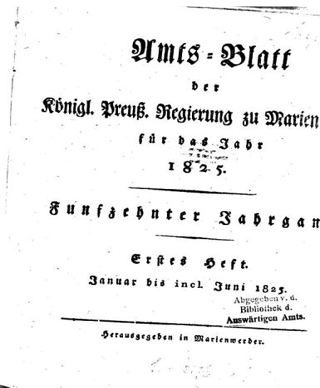 Amtsblatt f  r den Regierungsbezirk Marienwerder PDF