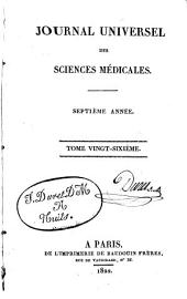 Journal universel des sciences médicales: Volume26