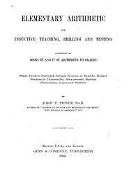 Elementary Arithmetic for Inductive Teaching  Drilling and Testing PDF