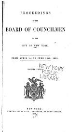 Proceedings of the Board of Councilmen of the City of New York: Volume 74