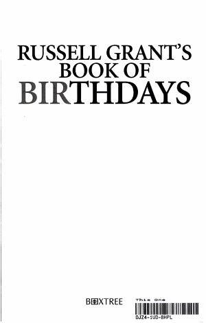Russell Grant s Book of Birthdays PDF